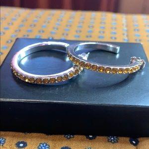 👑 Avon Birthstone Color Hoop Earrings